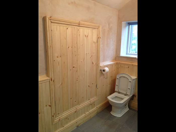 bathroom timber panelling installation image 4